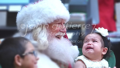 Meeting Santa for first time