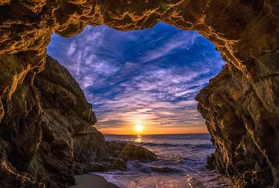 Epic Malibu Eternity: Secret Sea Cave Sunrise & the Dawn of Light, Time, & Dimension
