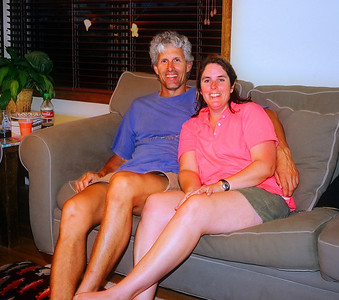 Eric with his wife Jennie, in their home in Seattle.