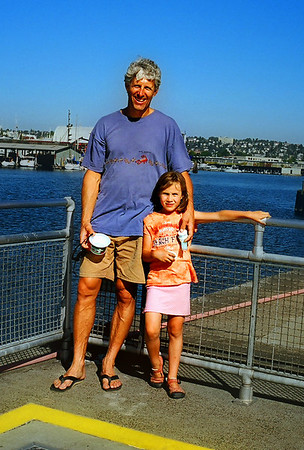 And longtime (from high-school) buddy Eric Boget with his eldest daughter Jolene.