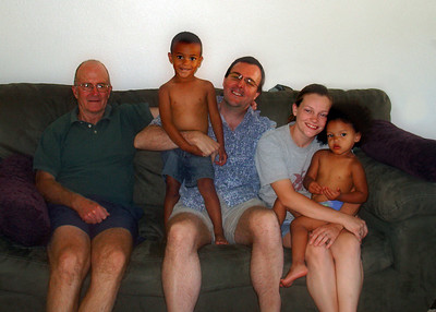 Here we all are - Dad, Neilvonte, me, my niece (Ann's daughter) Kristen, and Savannah.