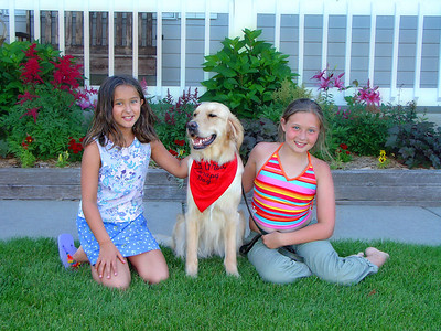Daniela and Kelly with Grace, the Wonder Pet Therapy Dog