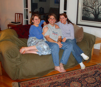 Shelly with her brother and sister in law, Sim and Kristen, visiting from St. Louis.