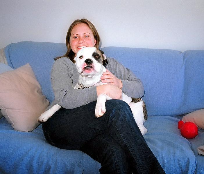 Sharon with her beloved dog Tober.