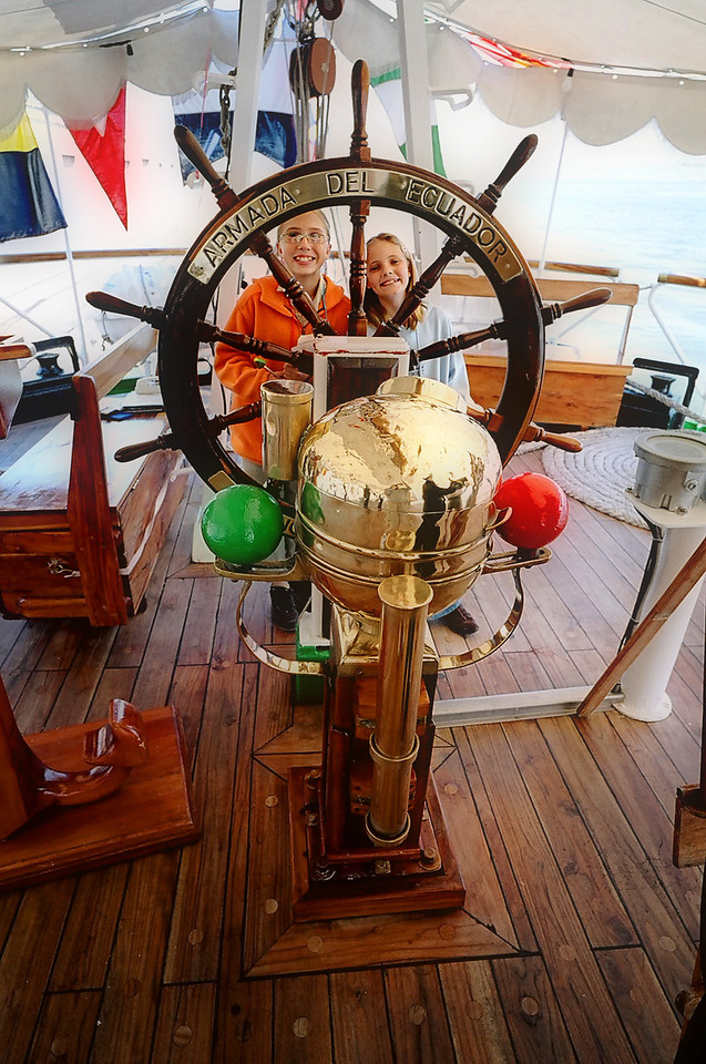 The Captain's wheel on the Guyas.