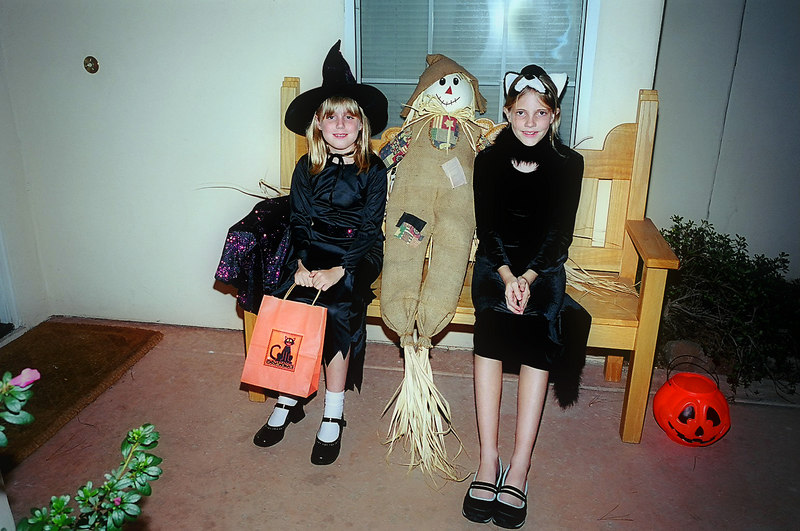 Elena, Emily and friend, Halloween 2005.