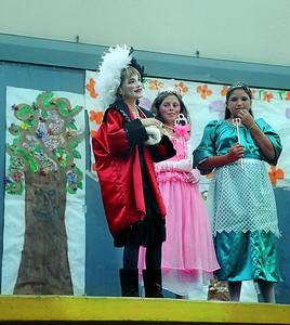Emily as Cruella d'Ville in a summer play.