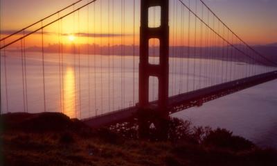 Sunrise over San Francisco.