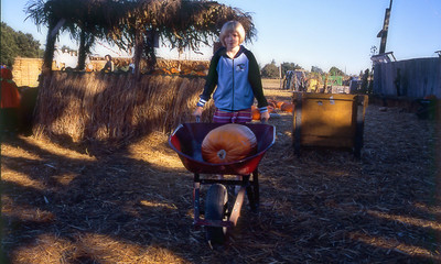 Fall 2004 - Emily at the pumpkin patch.