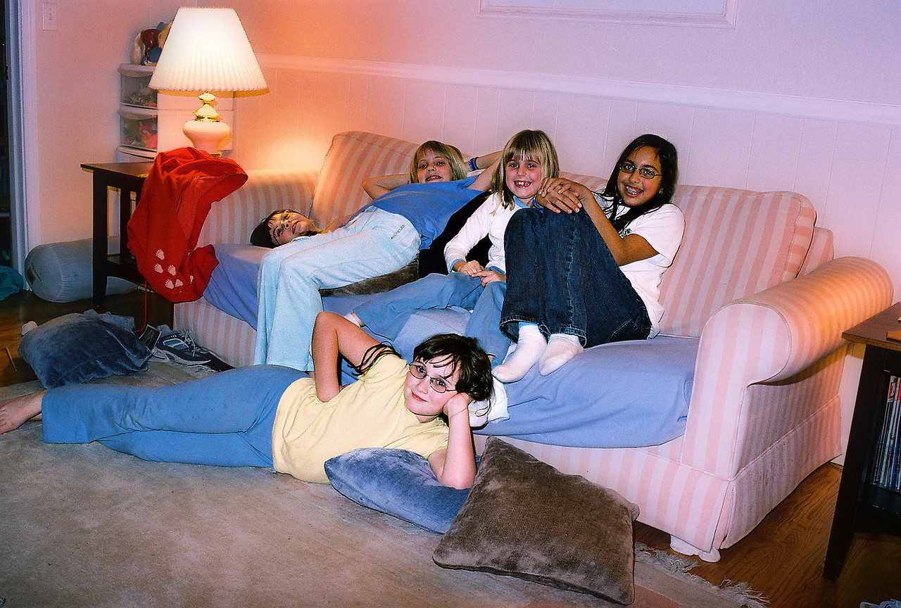 The gang - Alice, Emily, Elena, Rika and Laura. Christmas 2004.