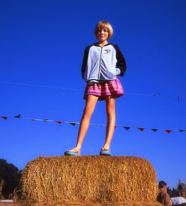 Emily at the pumpkin patch (Fall 2004)