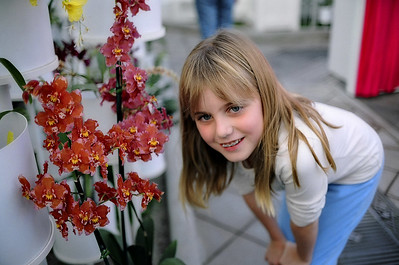 Elena with orchid.