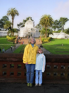 Aunt Carole with Elena, Conservatory of Flowers