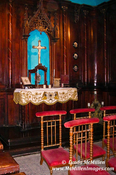 Casa Aliaga, Lima, Peru:  The private chapel has been used by the Aliaga family for over 200 years.
