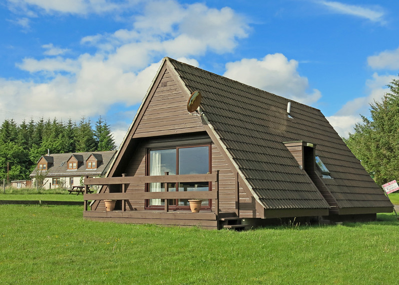 Back home to blue sky. This is our neighbouring lodge. For sale for offers over 75 K !