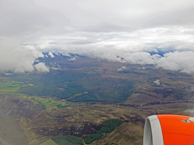 ........... preparing to land at Inverness.