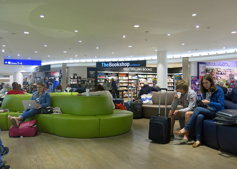A long wait in the departure lounge at Bristol Airport