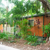 Our cabin at Airlie Beach, set in neat tropical surroundings