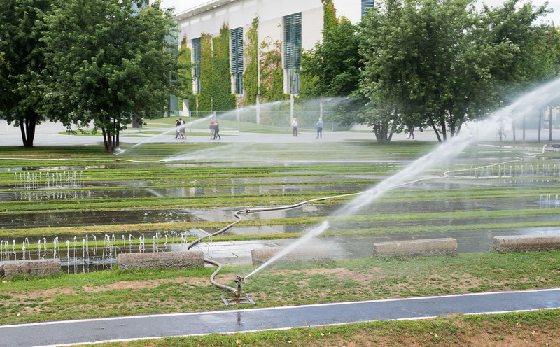 Watering a Fountain