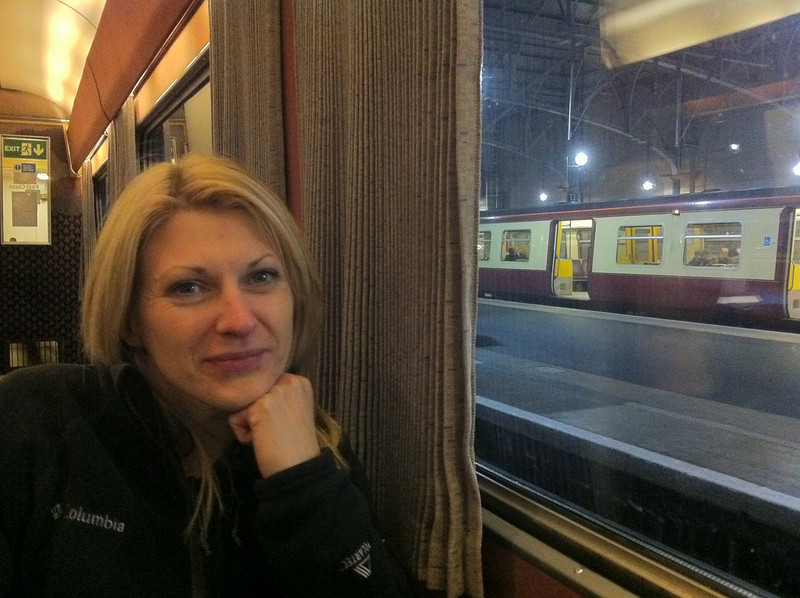Catherine in the Restaurant Car