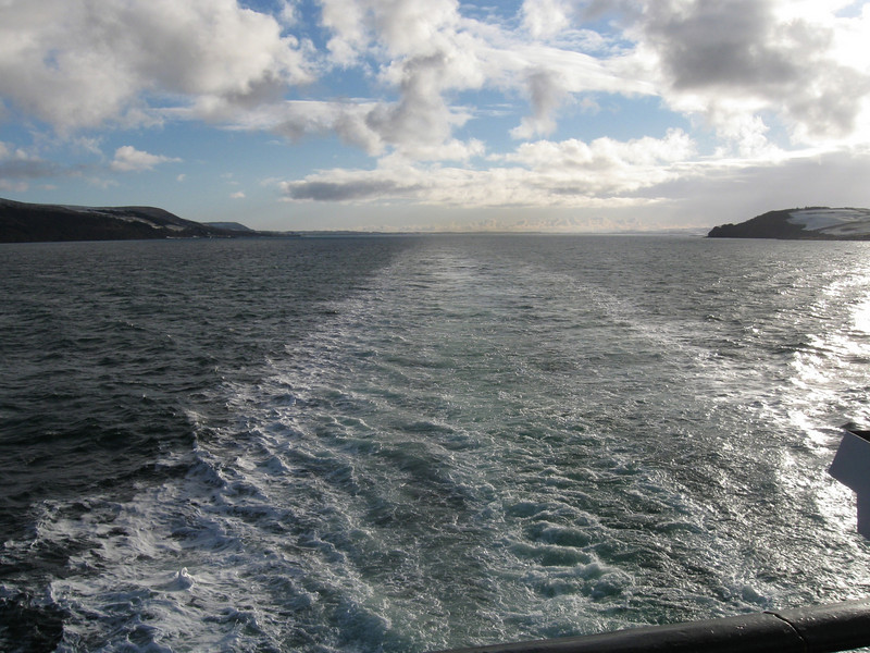 Leaving Loch Ryan on the Stena Navigator