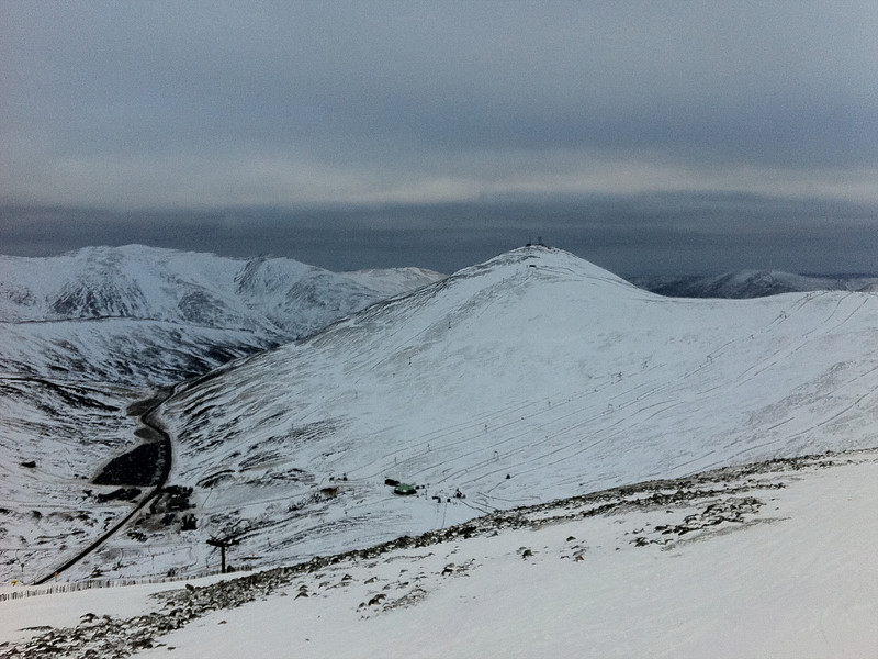 Cairnwell from Carn Aosda, Glenshee Ski Centre