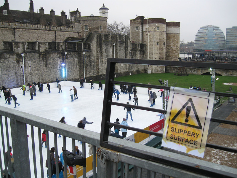 Skating at London Tower. There's some irony in there somewhere.