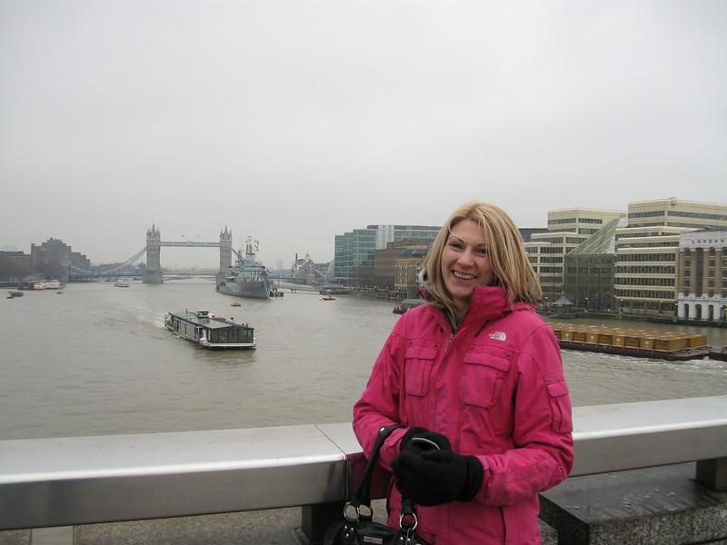 Catherine, HMS Belfast and Tower Bridge.