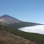 Tiede with cloud in the Orotava valley.