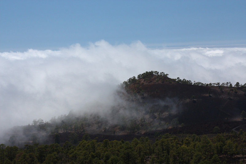 Decending from Tiede on the TF-38, just entering the cloud again
