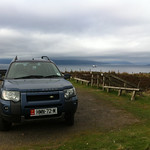 The island hopping Freelander on top of Cumbrae, Looking North to the Firth of Clyde