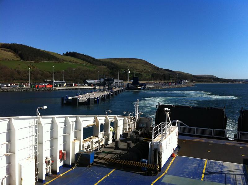 Leaving Cairnryan