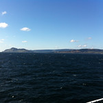 Holy Isle and Ailsa Craig beyond