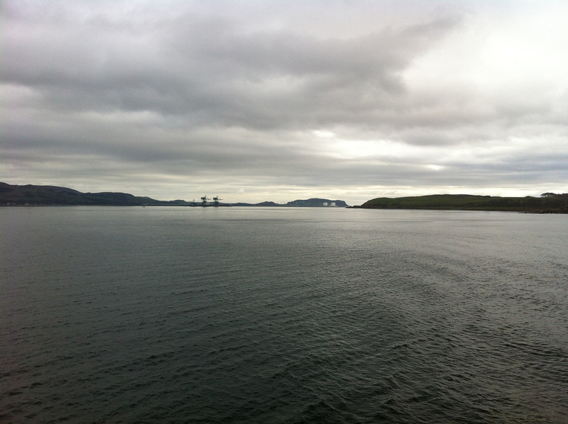 Looking South to Hunterston from MV Loch Shira