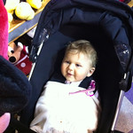 Eva sees her new Minnie stuffed toy for the second time. The first time wasn't photographed but her smile was awesome.