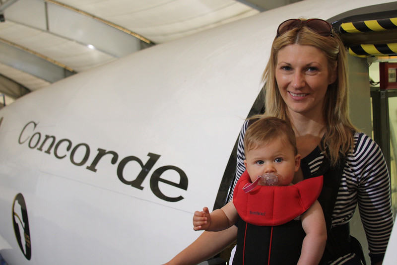 Eva gives Concorde Prototype F-WTSS at Le Bourget the thumbs up