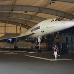 Catherine, Eva and Concorde F-BTSD at Le Bourget, with F-WTSS behind. A sadly sterile exibition of such a beautiful machine.