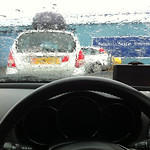 A typically wet Isle of Man day waiting for the ferry