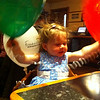 Eva and her balloons. Red Left, Green Right and White Aft - there's hope yet!
