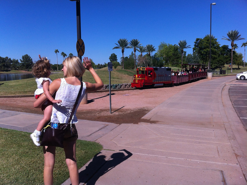 The railway at Freestone Park.