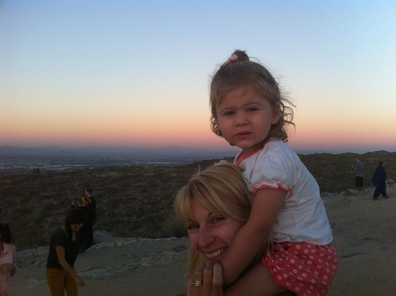 Catherine and Eva on South Mountain.