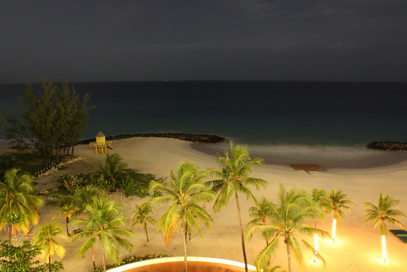 An evening view from our room