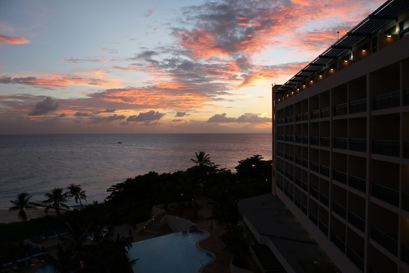Sunset from the hotel link