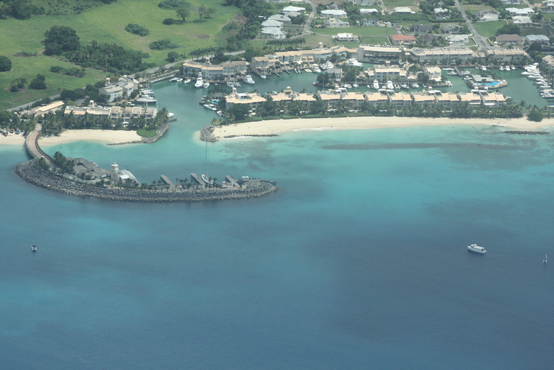 Port Charles marina and heliport