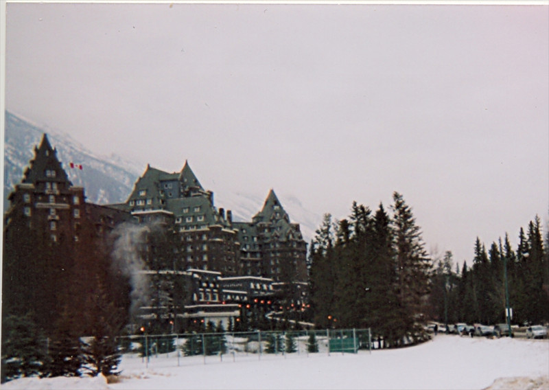 Our hotel - The Fairmont Banff Springs
