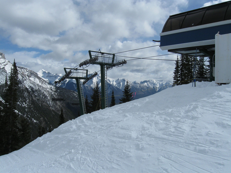 The top of the Mystic chairlift at Mount Norquay