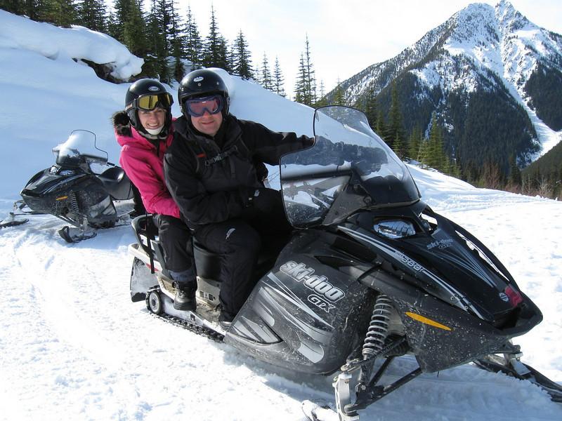 Snowmobiling in Golden, British Columbia
