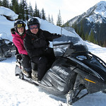 Snowmobiling in Golden, British Columbia