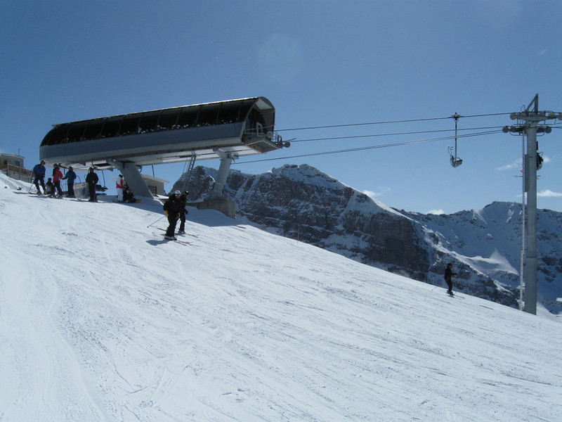 """The """"Top of the World"""" chairlift at Lake Louise"""