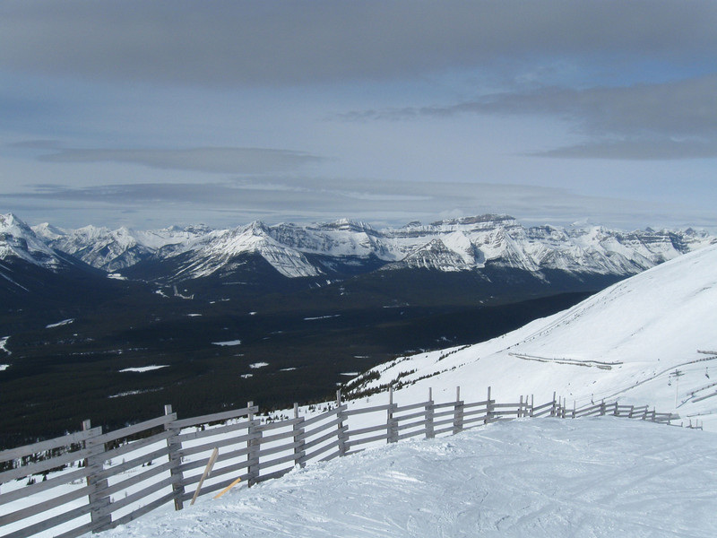 Lake Louise, View from the top of the Paradise Chairlift